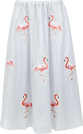 OLYMPIAH flamingo patches tulle skirt - Grey