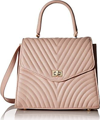 787e4d4bd4 Steve Madden Coco Ladies TOP Handle Non Leather Satchel with Chevron  Quilting, blush