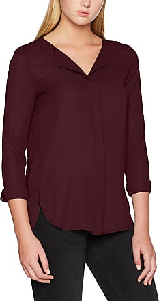 Vila Womens Vilucy L/s Shirt - Noos Blouse, Red (Winetasting Winetasting), 10 (Size: Small)