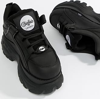Buffalo classic lowtop platform chunky trainers in black