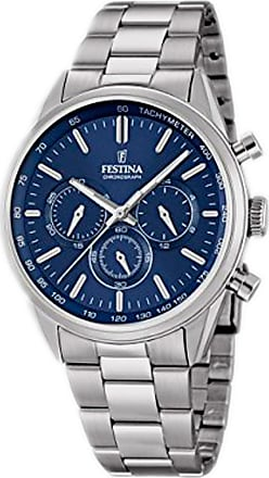 Festina Watch for Men, Blue, Stainless Steel, 2017, One Size