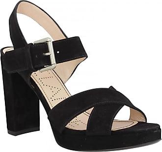 79a70ea05b2a13 Free Lance Sandales talons FREE LANCE Elisa 7 Cross Sandal velours Femme  Noir