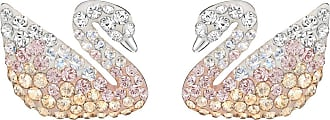 Swarovski Iconic Swan Pierced Earrings, Large, Multi-colored, Rhodium Plating