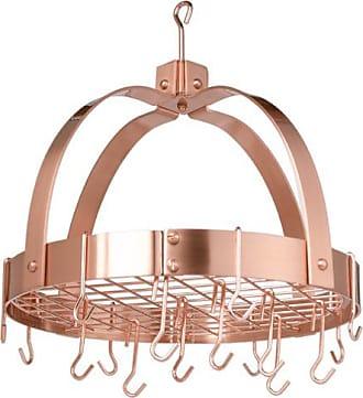 Old Dutch International Dome Pot Rack with 16 Hooks, Copper, 20 x 15.25 x 21