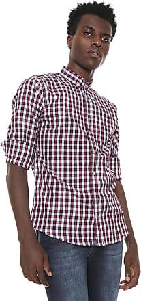 Triton Camisa Triton Reta Xadrez Roxa/Branca