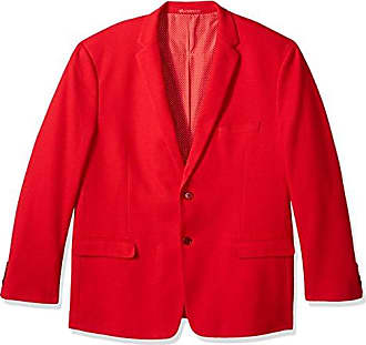 U.S.Polo Association Mens Big and Tall Cotton Blend Knit Sport Coat, red, 50 Long