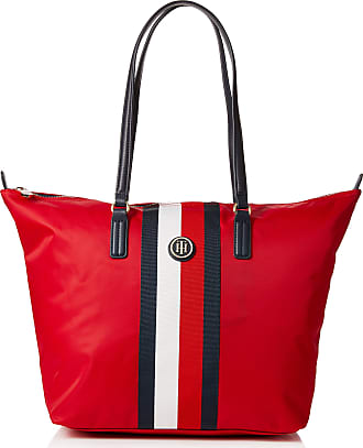 c1faf23e8 Tommy Hilfiger Poppy Tote Corp Stripe, Womens Tote, Red (Red/Core Stripe