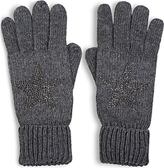 db38738898378a styleBREAKER warme Handschuhe mit Strass Nieten Stern Applikation und  doppeltem Bund, Strickhandschuhe, Damen 09010008