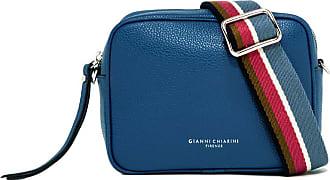 Gianni Chiarini large size tamburello crossbody bag color blue