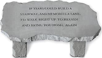 Kay Berry Outdoor Kay Berry If Tears Could Build A Stairway Large Memorial Bench - 36 in. Cast Stone - 35520