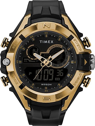 Timex Watch Mens The Guard Dgtl 47MM Resin Strap Combo Black/digital Item Tw5M23100Jt