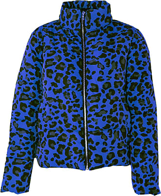 Love my Fashions Khushi Leopard Print Padded Jacket Blue