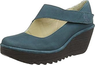 4fcf992e2147 FLY London Damen Yasi682fly Pumps, Grün (Deep Teal 033), ...