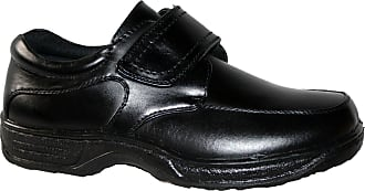 Cushion-Walk Mens Lightweight Casual Shoes, Slip ON and Touch Close BAR Strap (UK11, Black pu Velcro)