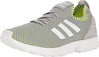 adidas Originals Mens Shoes | Zx Flux Pk Fashion Sneakers, Mid Grey White/Electricity, ((10 M US)