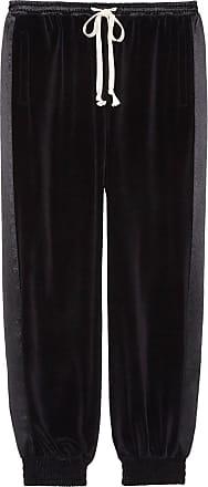 Gucci Calça jogging ampla com bordado - Preto