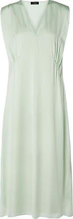 Theory Gathered Silk-charmeuse Midi Dress - Mint