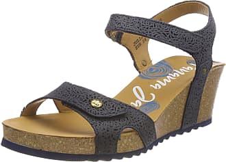 Panama Jack Womens Julia Roses Ankle Strap Sandals, Blue Marino B2, 6 UK