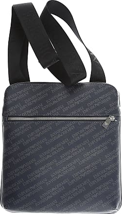 Emporio Armani Messenger Bag for Men On Sale, Indigo, Coated Canvas, 2017, one size