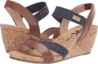 Anne Klein Sport Clovis Wedge Sandal (Cognac) Womens Shoes