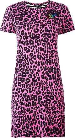 Marc Jacobs Vestido estampado com patchwork - Rosa