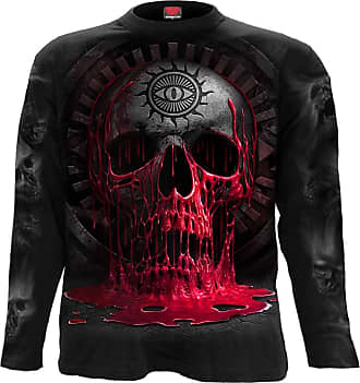 SPIRAL DIRECT WHEELS OF FIRE BLACK T SHIRT S to XXL Biker Gothic Printed Bike