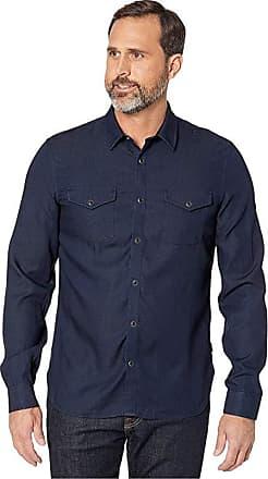 John Varvatos Star USA Men/'s Oxblood Red Crimson Heather Burnout Pocket T-Shirt
