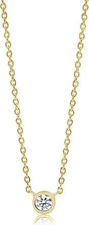 Sif Jakobs Jewellery Halskette Sardinien Uno - 18K vergoldet mit weißen Zirkon