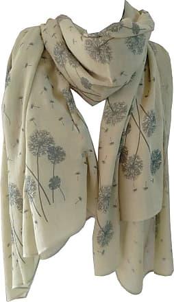 GlamLondon Dandelion Scarf Scatter Dandelions Flower Print Fashion Ladies Womens Classy Big Wrap (Light Green)
