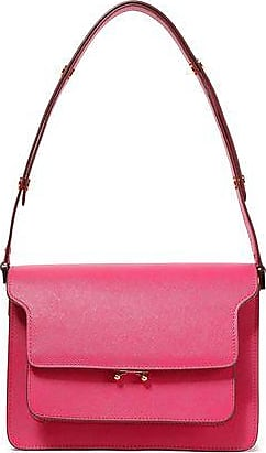 Marni Marni Woman Trunk Textured-leather Shoulder Bag Fuchsia Size