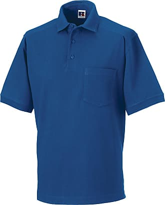 Russell Athletic Russell Collection Workwear Polo Shirt Mens Cotton Short Sleeve Work Shirts Tops XL