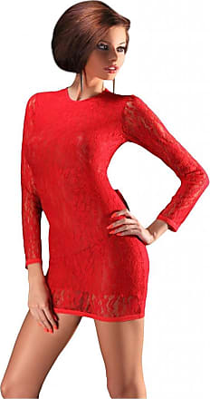 Nine X Sexy Lace Mini Clubwear Dress with Open Back Size S-5XL, 8-22Uk, Party, Red - M
