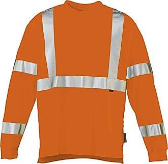 Wolverine Mens Caution Long Sleeve T-Shirt, Hi Vis Orange, Medium