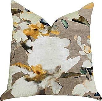 Plutus Brands Maya De Aqua Floral Double Sided Luxury Throw Pillow 20 x 20 Green/Blue/Beige