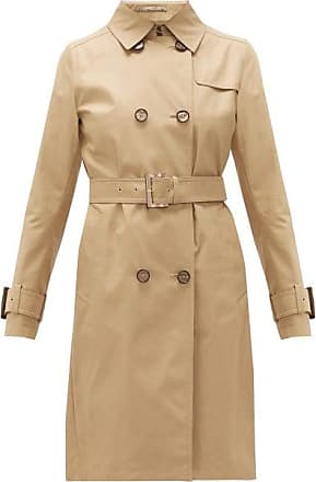 Herno Double-breasted Cotton-gabardine Trench Coat - Womens - Camel