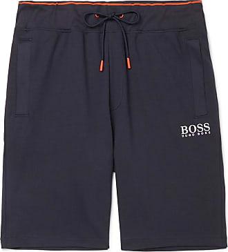 6b92a76c HUGO BOSS Cotton-jersey Drawstring Shorts - Navy