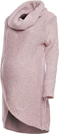 Happy Mama Happy Mama. Womens Maternity Nursing Wrap Knitted Layered Jumper Pullover. 359p (Pink Melange, UK 10/12, ONE Size)