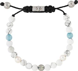 Nialaya stone beaded bracelet - White
