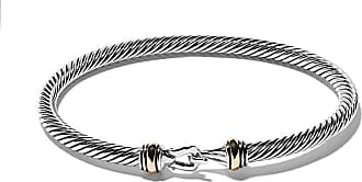 David Yurman sterling silver and 18kt yellow gold Cable bracelet - S8