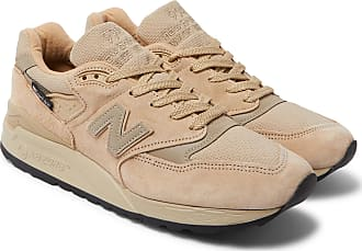 basket new balance cuir beige