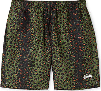 Stüssy Mid-length Leopard-print Swim Shorts - Green