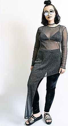 YSKI Vestido Assimétrico Lurex P