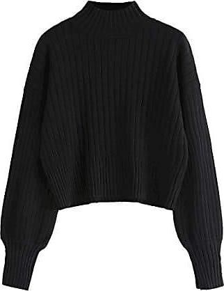 Sweatshirt Drachen Stickerei Chinesisch Strickpulli Pullover Locker Kasual Damen