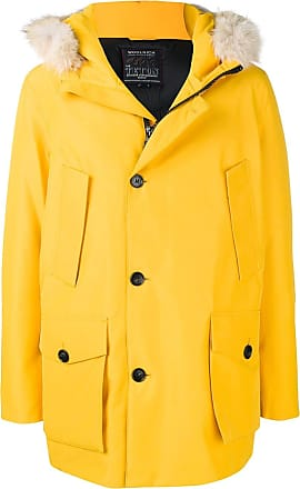 Woolrich fur hood padded coat - Yellow