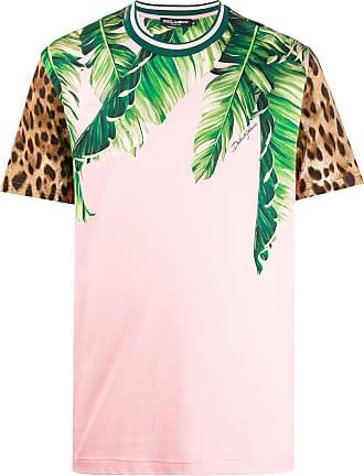 Dolce & Gabbana Camiseta animal print - Rosa