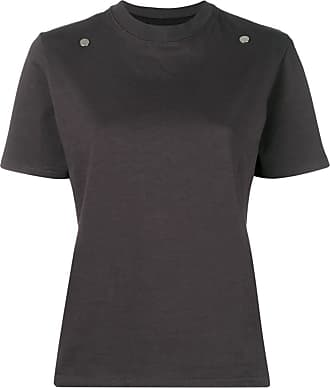 Zilver organic cotton stud-detail T-shirt - Grey