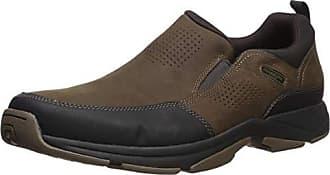 Rockport Mens Were Rockin Slip On Shoe, dark brown, 7 M US