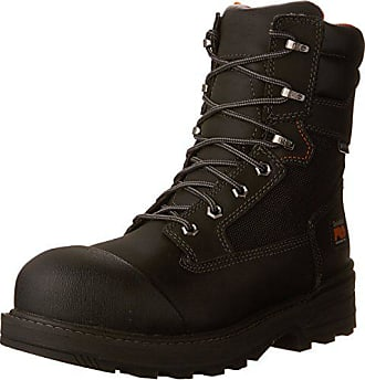 Timberland PRO Mens 8-Inch Resistor WP CSA Work Boot, Black Full-Grain Leather, 10.5 W US