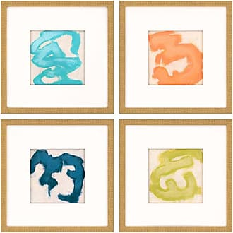 Paragon Picture Gallery Gestural II Framed Wall Art - Set of 4 - 7083