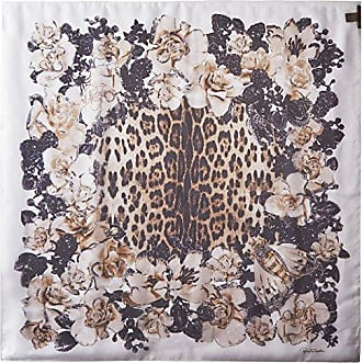 Roberto Cavalli Womens Patterned Scarf, Brown/White
